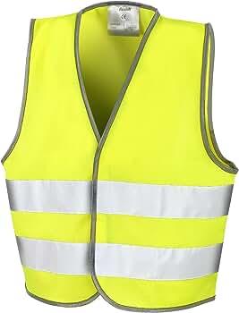 Result- Chaleco de Seguridad Reflectante Unisex para niños (4-6 años) (Amarillo Fluorescente): Amazon.es: Ropa y accesorios