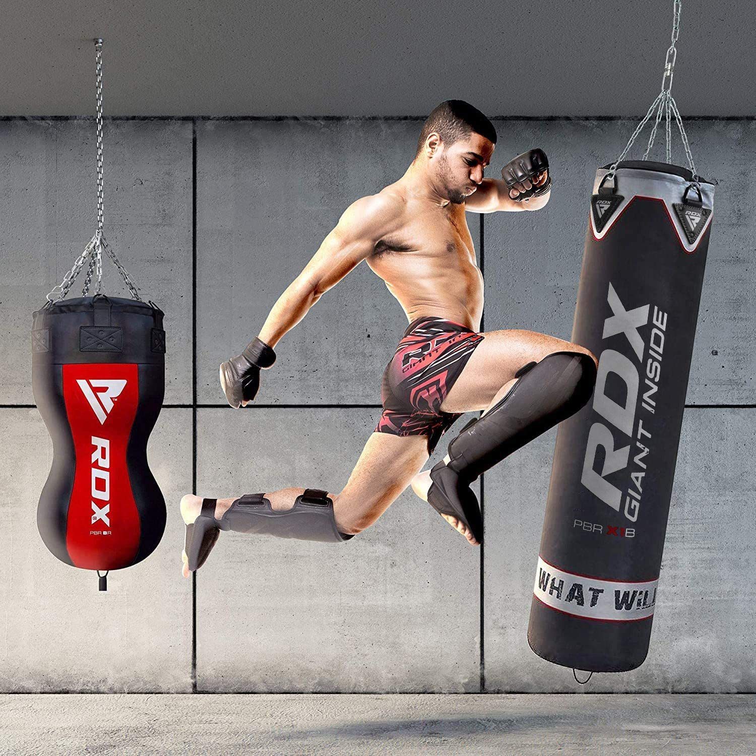 XXR Punch Bag 4ft 5ft Heavy Filled Kick Boxing with Chain Training Punch Bags