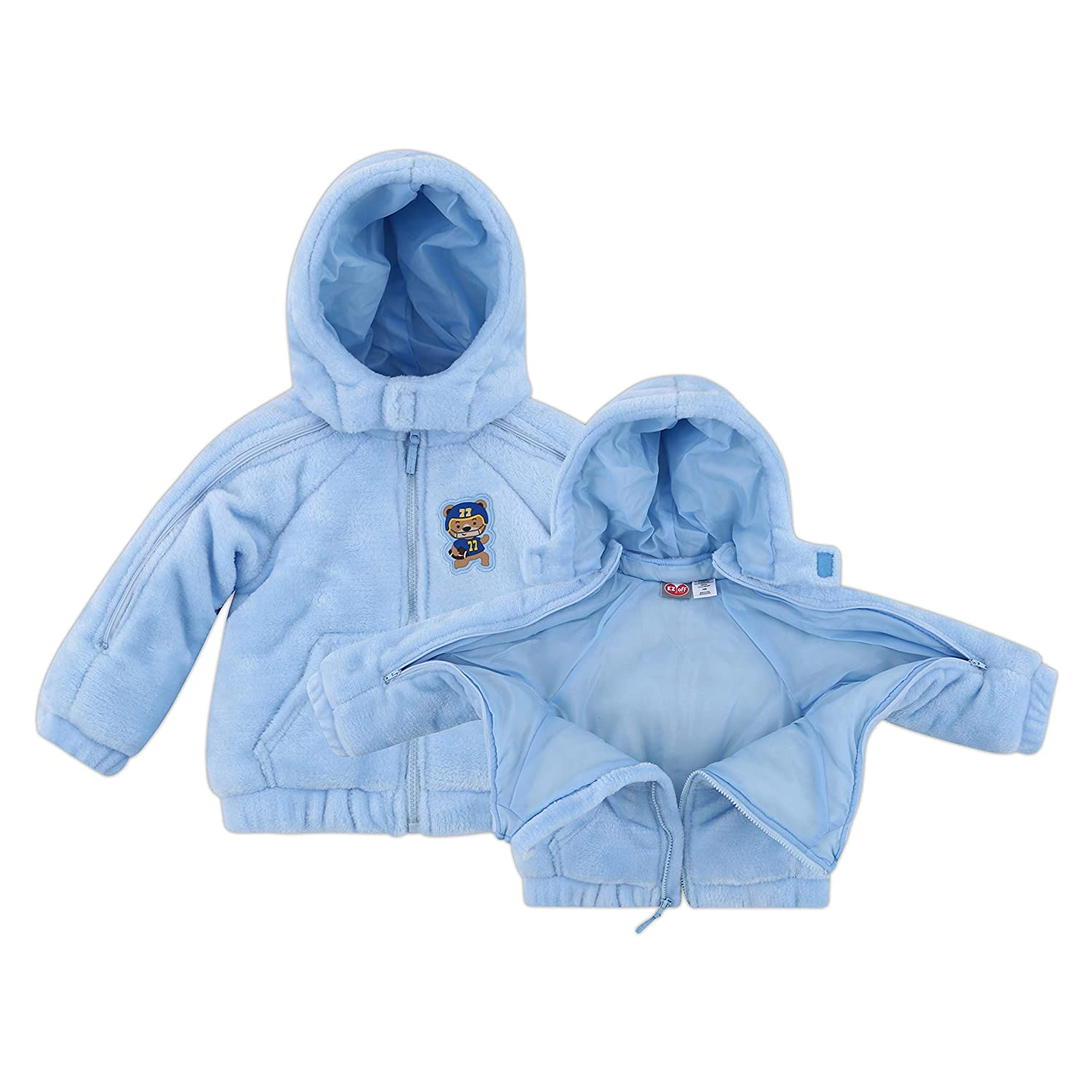 Perfect Baby Gift Infant Boy EZ Off Full Zip Hooded Warm Jacket Great for Sleeping Children