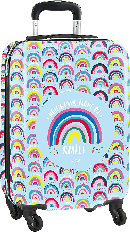Trolley Cabina 20'' Maleta Safta con Ruedas y Candado de Seguridad de Glowlab, Multicolor