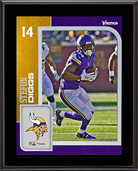 2554004784a Stefon Diggs Minnesota Vikings 10.5'' x 13'' Sublimated Player Plaque - NFL