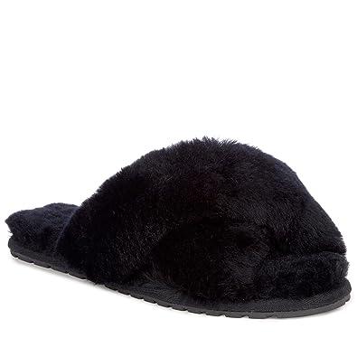 463d12808531 EMU Australia Womens Slippers Mayberry Sheepskin Slipper Size 5 Black