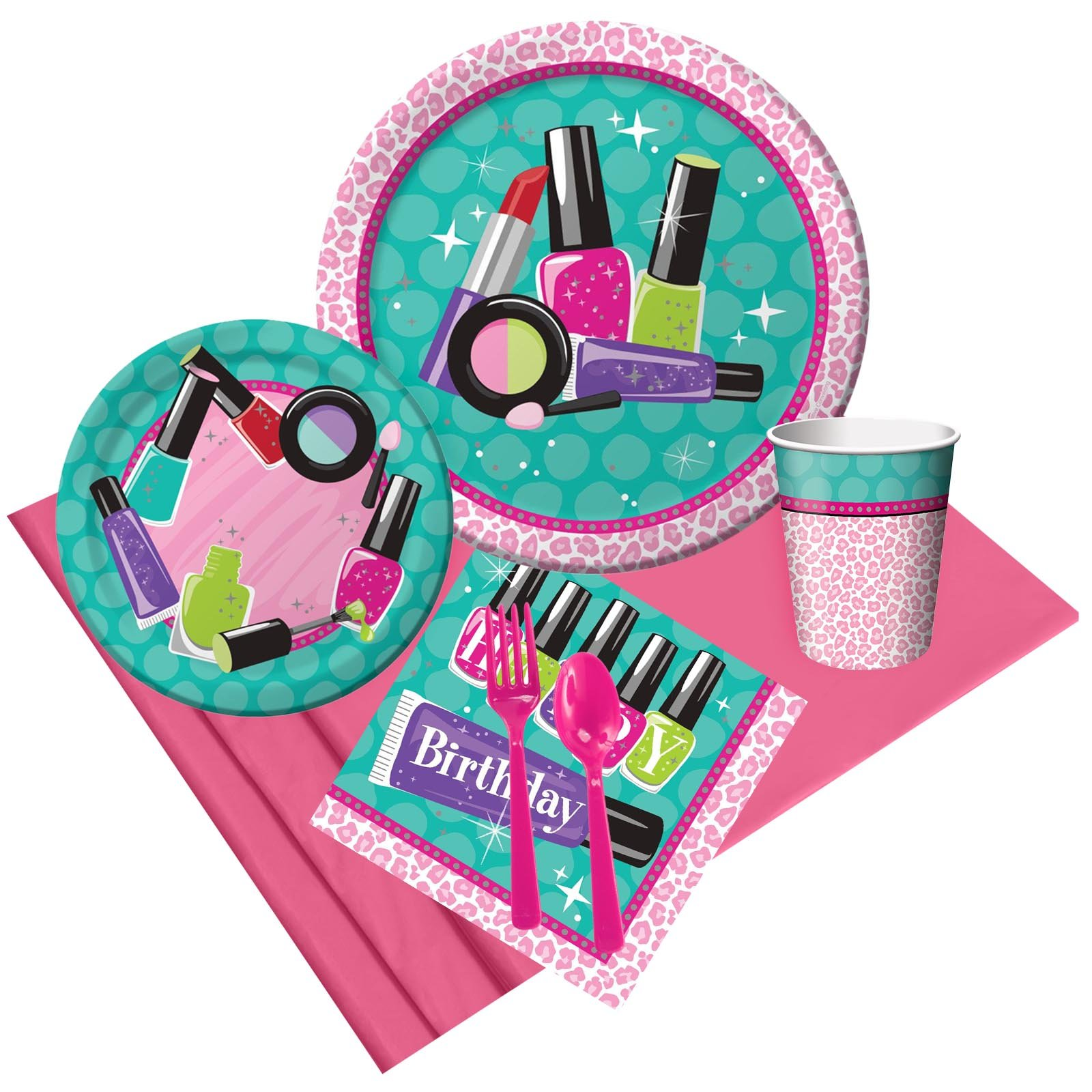 BirthdayExpress Spa Party Supplies Party Pack for 8