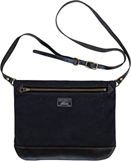 product image for Artifact Wax Canvas & Leather Cross-Body Bag - Made in Omaha