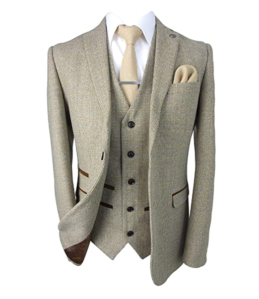 Amazon.com: Paul Andrew Trajes de tweed retro a medida para ...