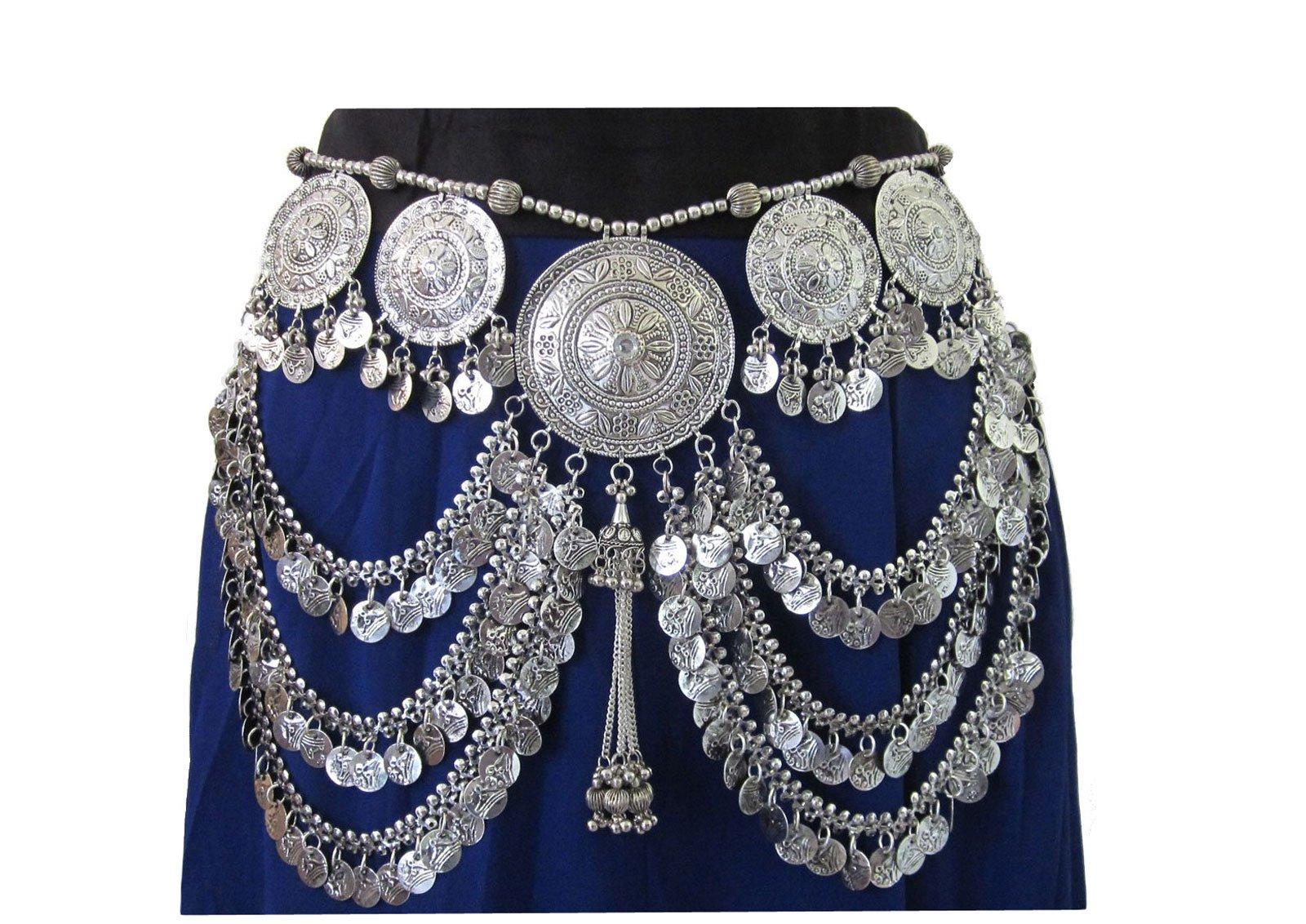 IndiaStop Tribal Belt Oxidized Vintage Festival Bohemian Womens Fashion Belly dance