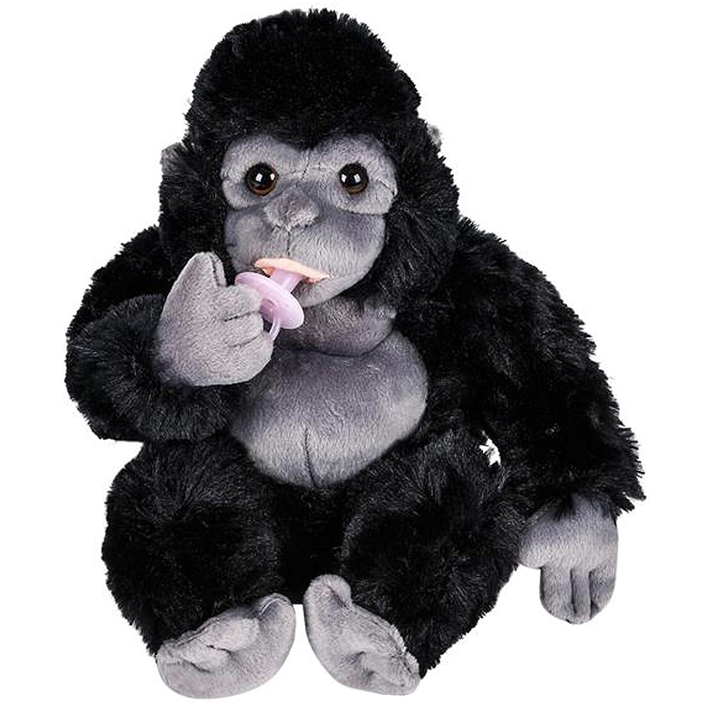 Amazon.com: Animal Den bebé gorila de peluche con chupete ...
