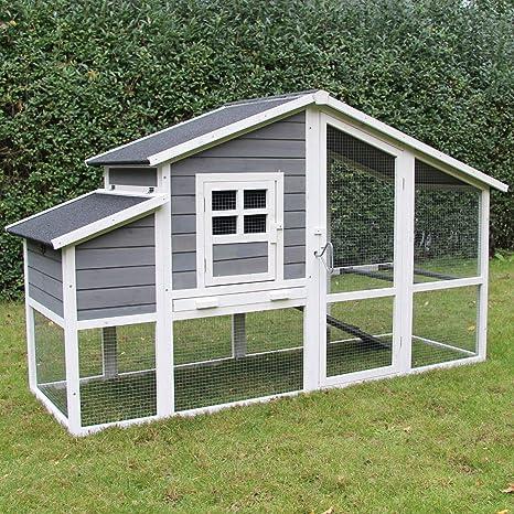 zoo-xxl - Gallinero de gallinas Wilma 199 x 74,5 x 116 cm con Nido ...