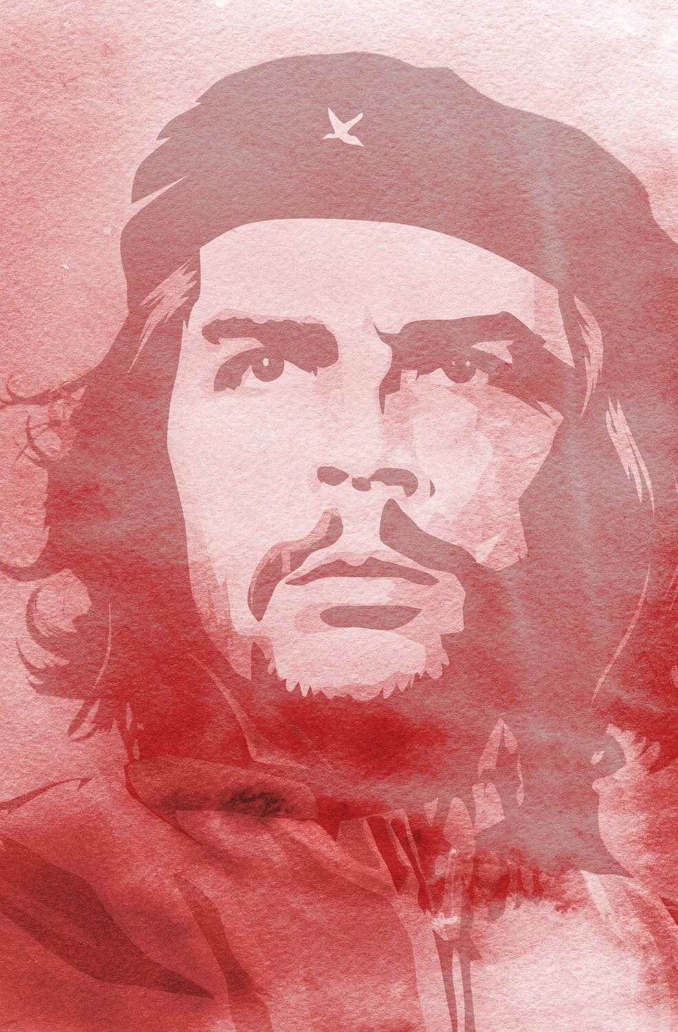 JP London Mural Che Guevara Revolution at 2 Wide by 3 feet high SPMUR2223 Fully Removable Peel and Stick Wall Art