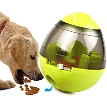 Tacobear Leaking Food Ball Tumbler Juguetes interactivos para perros Dispensador de alimentos Treat Ball Dogs Comida