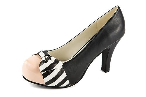 f680bc40db6 Lola Ramona Zapatos de Vestir de Piel Lisa Para Mujer Negro Negro 41 ...