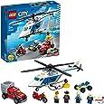 LEGO 60243 City Police Politiehelikopter achtervolging met ATV quad bike, motorfiets en truck, Bouwset voor kinderen van 5 jaar en ouder