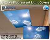 Sunny Day Sky - 2ft x 4ft Drop Ceiling Fluorescent