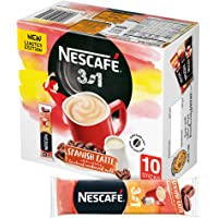 Nescafe 3 in 1 Spanish Latte Coffee Mix, 22 gm (10 Sachets)
