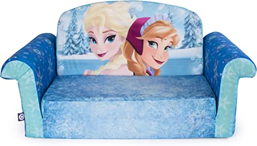 Marshmallow Furniture, Children's 2 in 1 Flip Open Foam Sofa, Disney Frozen, by Spin Master (Styles May Vary)