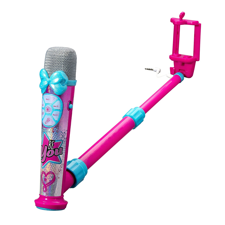 eKids JoJo Siwa Selfie Star Studio App Enhanced Selfie Stick Video Recording Microphone