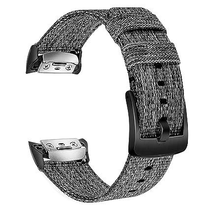 Amazon.com: Correa de reloj Gear Fit2, trumirr de nailon ...