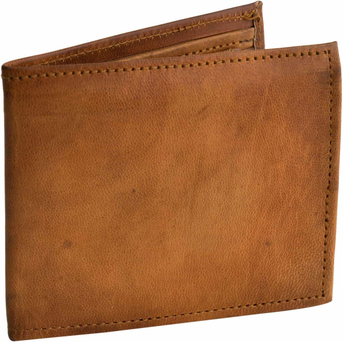 """Portefeuille en cuir /""""Emil/"""" Porte-monnaie petit vintage compartiments multiples unisexe Marron clair A122b Gusti Cuir nature"""