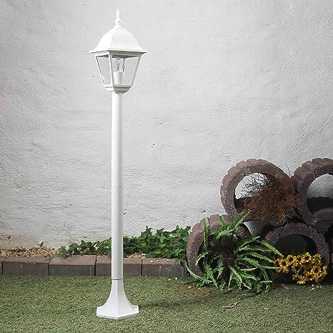 LED Garten Standleuchte E27 Außenleuchte 6W Rustikale Retro Wege Leuchte Schwarz
