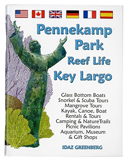 Pennekamp Park Reef Life Mini Book ~ Coral & Fishes ~ Christ of The Abyss  Cover Out of Print Key Largo Florida Mini Fishwatchers Guide Book
