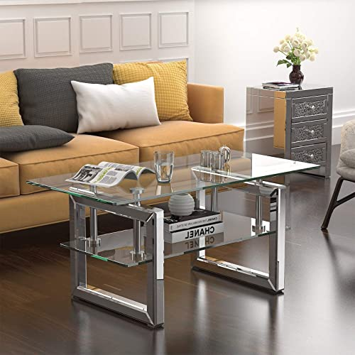 Mecor Mirrored Coffee Table - the best living room table for the money