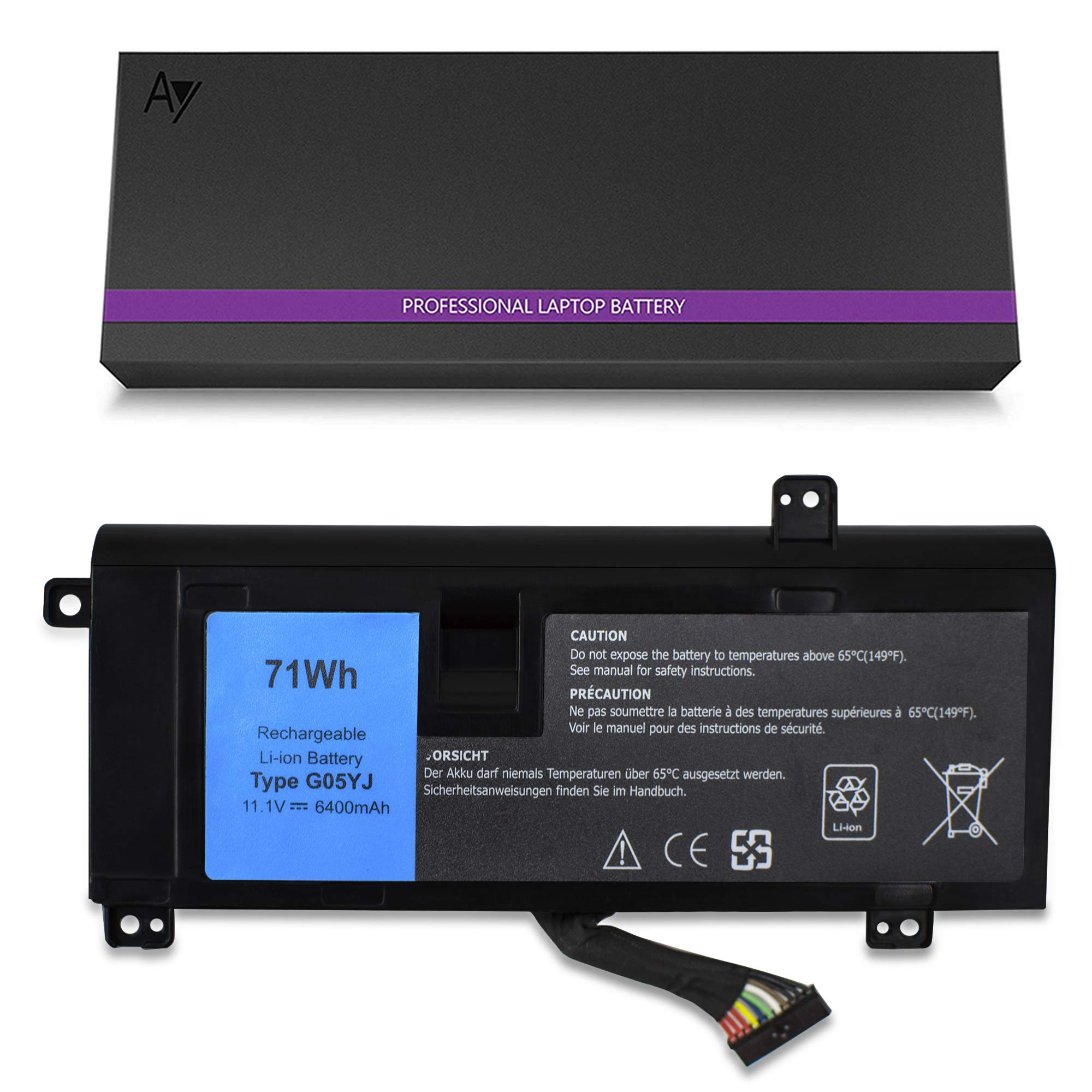 Bateria G05yj 11.1v / 71wh Compatible 14 A14 M14x R3 R4 Series 14d-1528 G05yj 0g05yj Y3pn0 8x70t