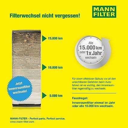 Original Mann Filter Innenraumfilter Cuk 2939 Pollenfilter Mit Aktivkohle Für Pkw Auto
