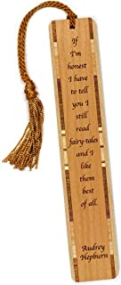 product image for Personalized Fairy-Tales Quote by Audrey Hepburn, Engraved Wooden Bookmark with Tassel - Search B01AH0SWMK for Non-Personalized Version