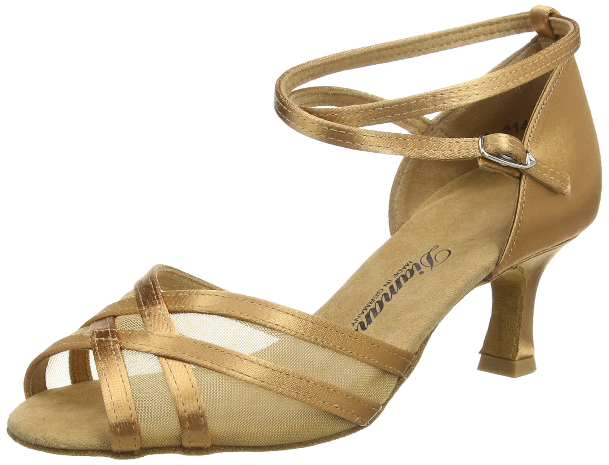 Diamant Womens 035-077-087, Bronze Satin/Mesh, 2'' (5.0 cm) Latin Heel, American 7.5M / UK 5