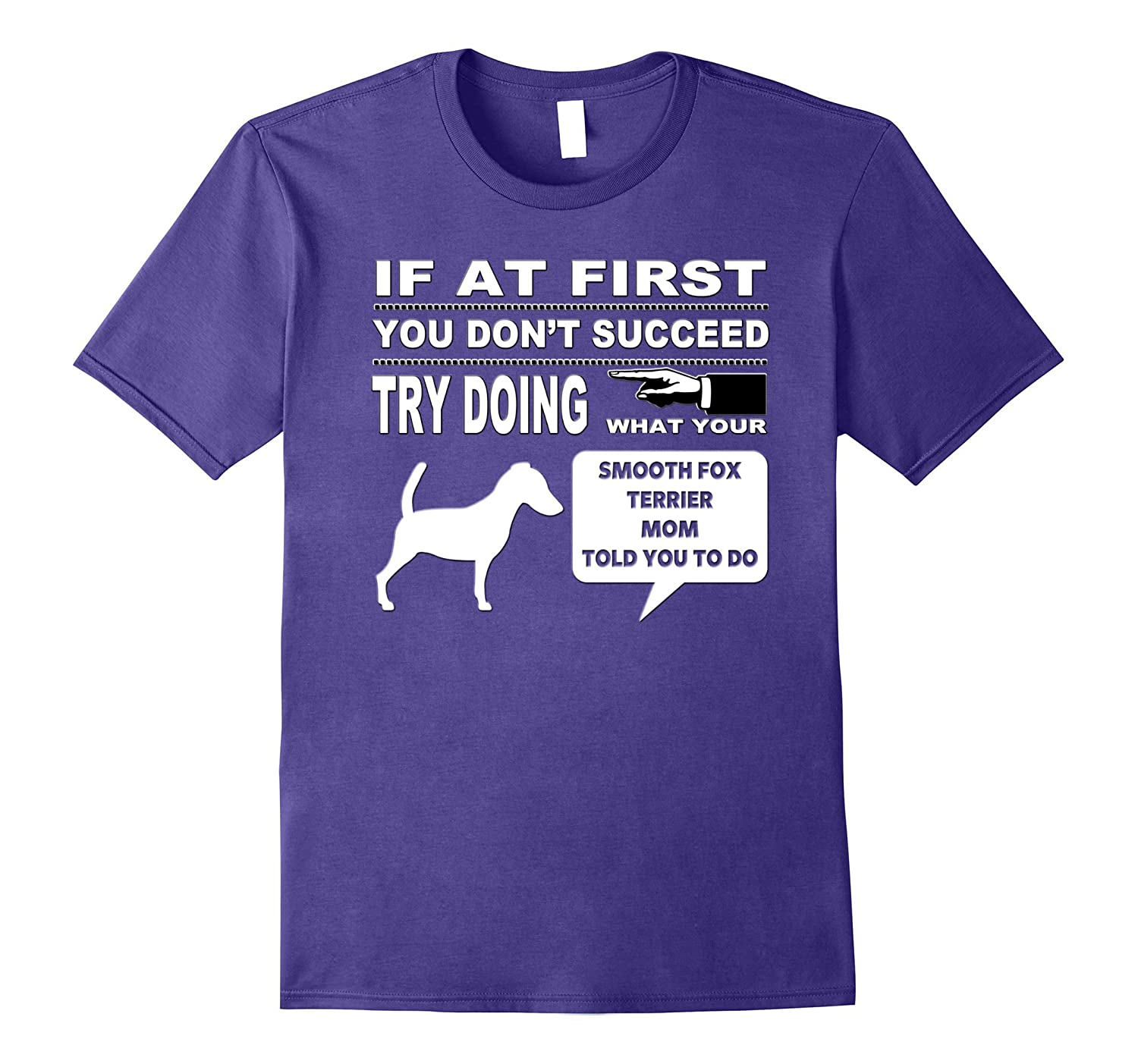 Smooth Fox Terrier Mom Tee-Shirt for Dog Parent-TH