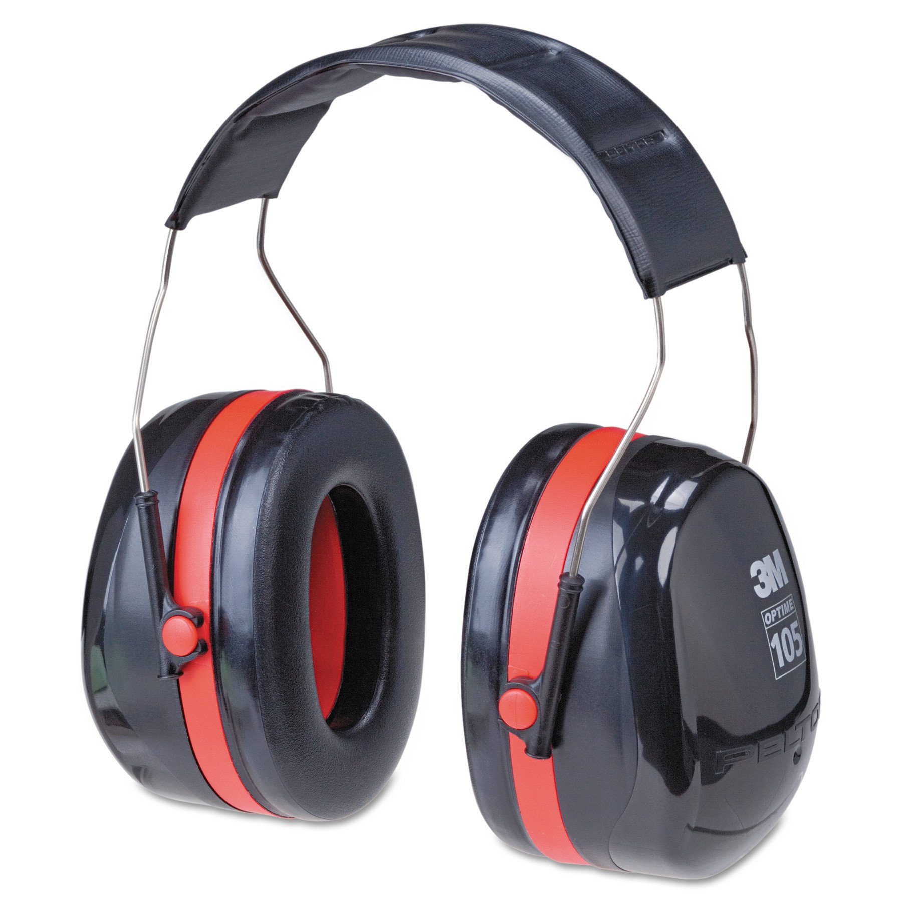 3M Peltor Optime 105 Over the Head Earmuff, Ear Protectors, Hearing Protection, NRR 30 dB by 3M