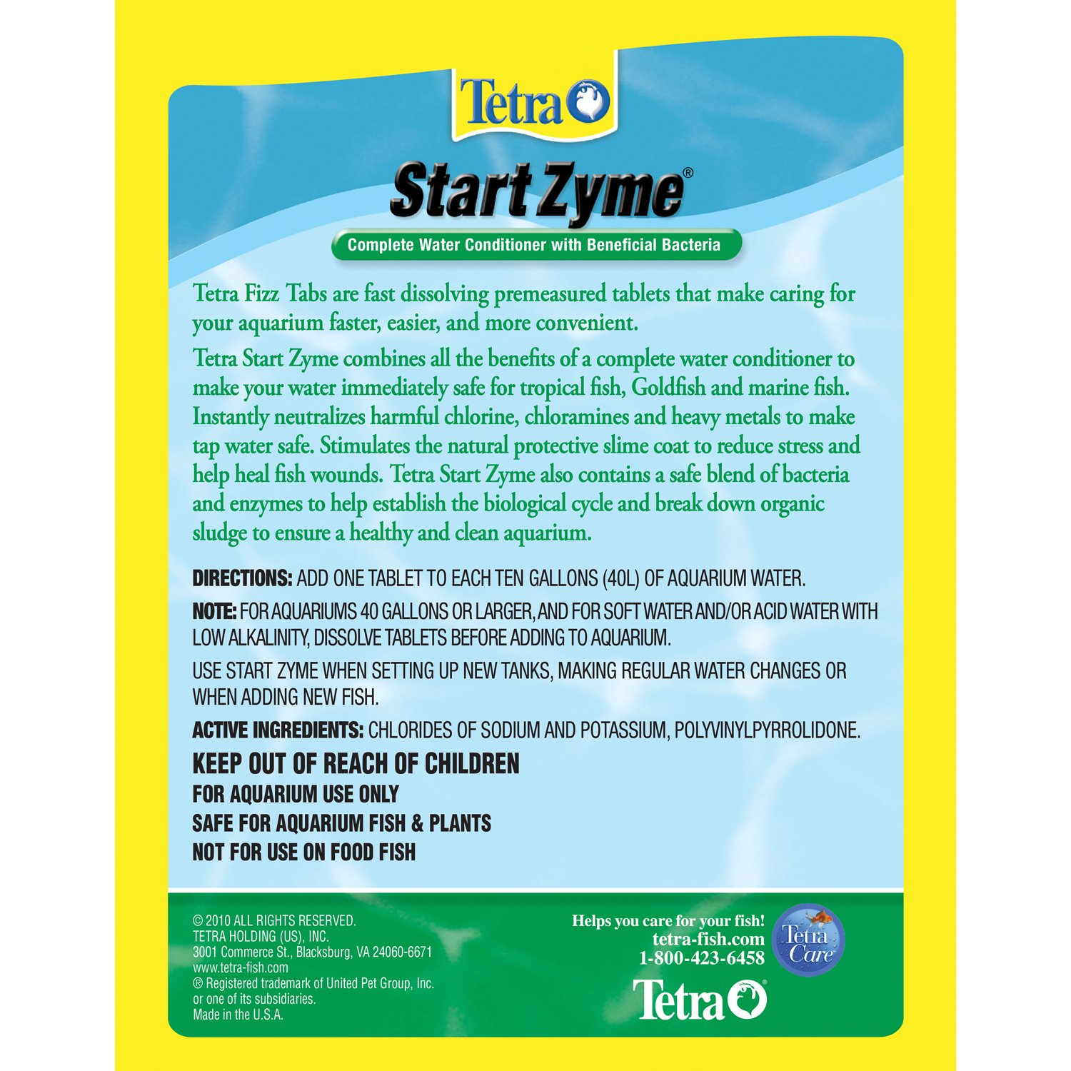 Amazon.com: Tetra 77343 startzyme Tablets, 3 paquetes: Mascotas