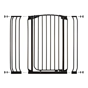 Dreambaby Chelsea Extra Tall Auto Close Security Gate in Black with Extensions