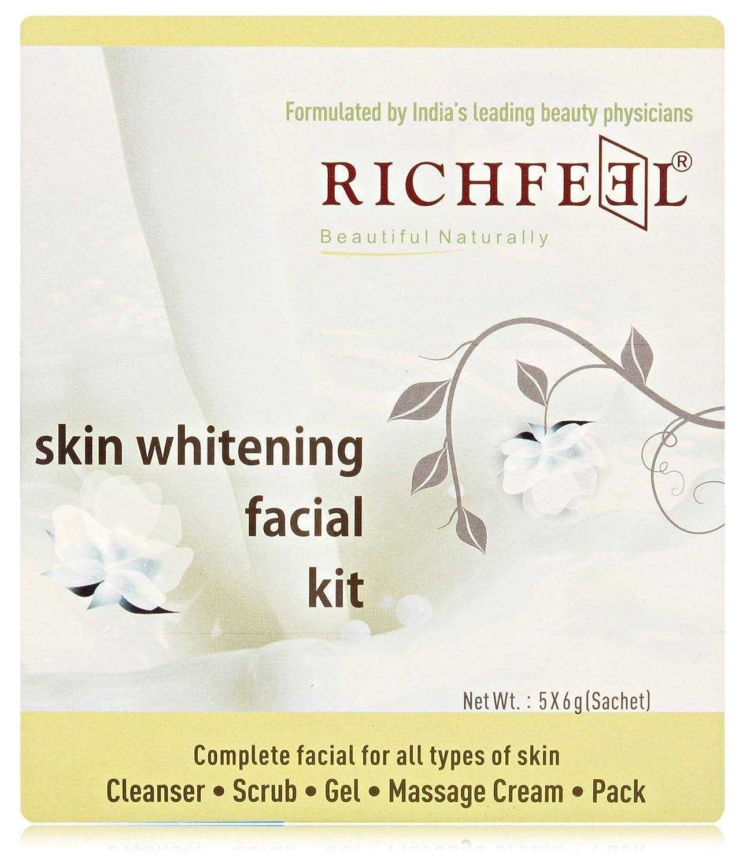 Richfeel Skin Whitening Facial Kit 6g Pack Of 5 Beauty Lightening Scrub