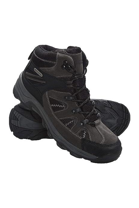 new style 7ef88 f94a2 Mountain Warehouse Rapid Wasserfeste Stiefel für Damen - Wanderschuhe aus  Wildleder und Netzstoff, Schuhe, Wanderstiefel mit Gummilaufsohle - Für ...