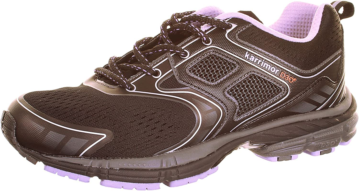 Karrimor D30 Excel Ladies Running Shoes - Black / Silver / Purple - EU 38.5: Amazon.es: Deportes y aire libre