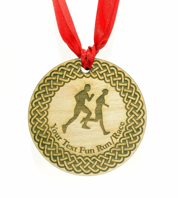 personnalisé 7 cm Diamètre Course Médaille avec Ruban Rouge Origin MED-001