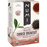 Numi Organic Tea Chinese Breakfast, 18 Count Box of Tea Bags, Yunnan Black Tea (Packaging May Vary)