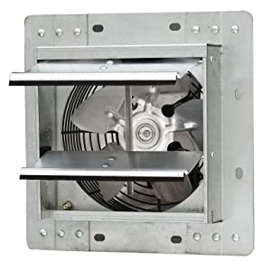 "iLIVING ILG8SF7V Shutter Exhaust Fan, 7"" - Variable, Silver"