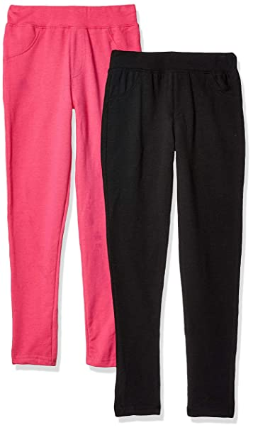 2a43e4a6231bf Freestyle Revolution Girls' Big FS7-77246-French Terry Leggings (2 Pack)