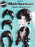 Set of 5 Hairlarious Funny Refrigerator Hair Magnets for Putting over Photographs on Your Fridge