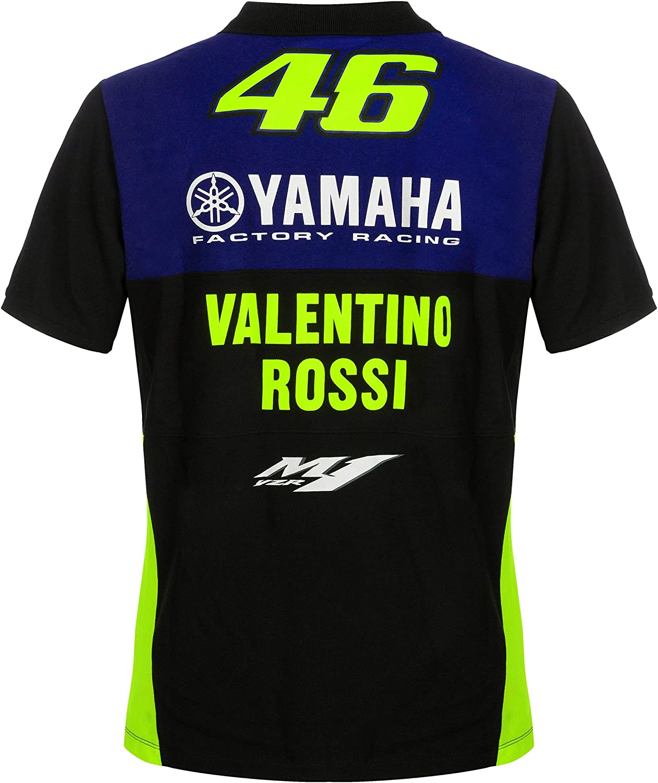 Valentino Rossi VR46 Moto GP M1 Yamaha Racing Team Polo Shirt ...