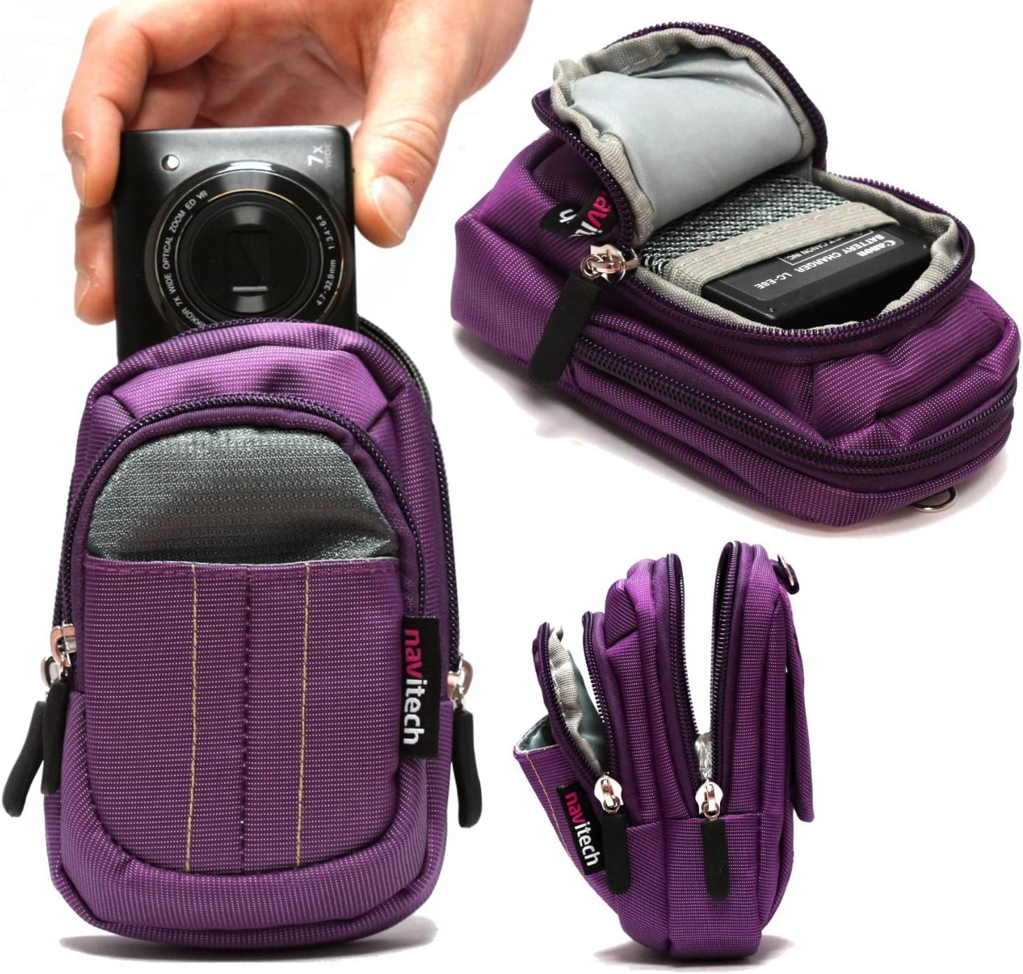 Navitech Purple Digital Camera Case Bag Compatible with The Nikon COOLPIX A900
