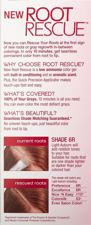 amazon com l u0027oreal paris root rescue hair color 6r light auburn