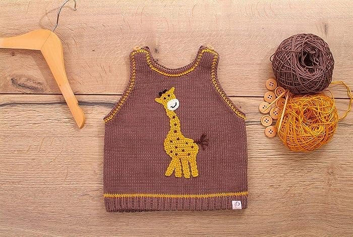Pullunder Mit Giraffe Gestrickt Amazonde Handmade