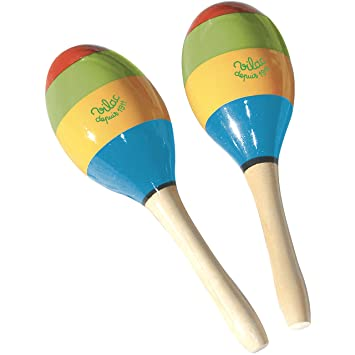 amazon com vilac wooden maracas toy percussion instruments baby
