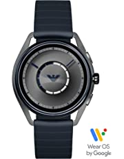 Emporio Armani Mens Smartwatch with Rubber Strap ART5008