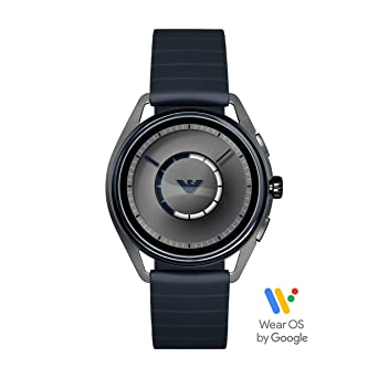 eed1f48f Emporio Armani Men's Smartwatch Powered with Wear OS by Google with Heart  Rate, GPS, NFC, and Smartphone Notifications