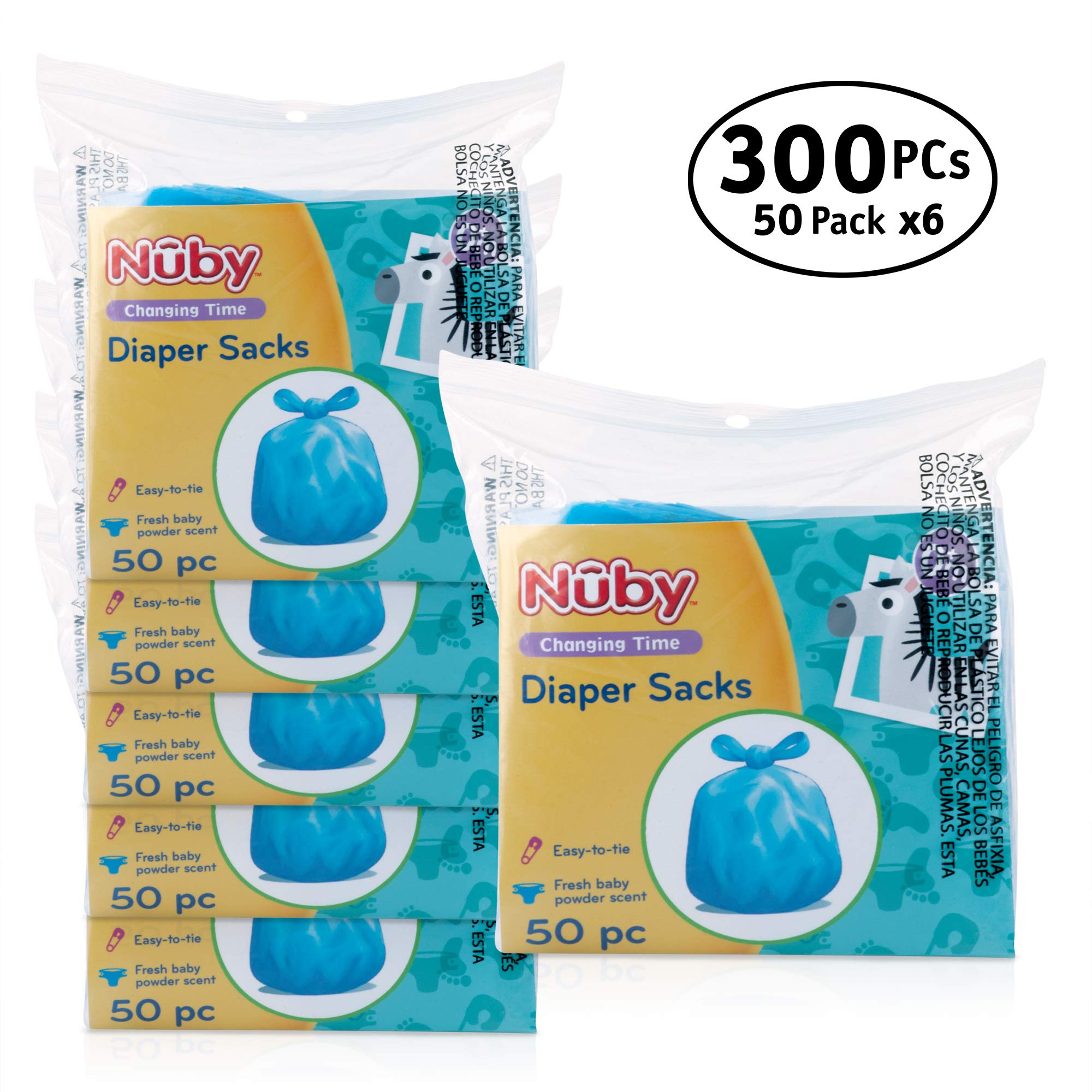 Nuby Diaper Bags, 300 Count (6 Packages) by Nuby