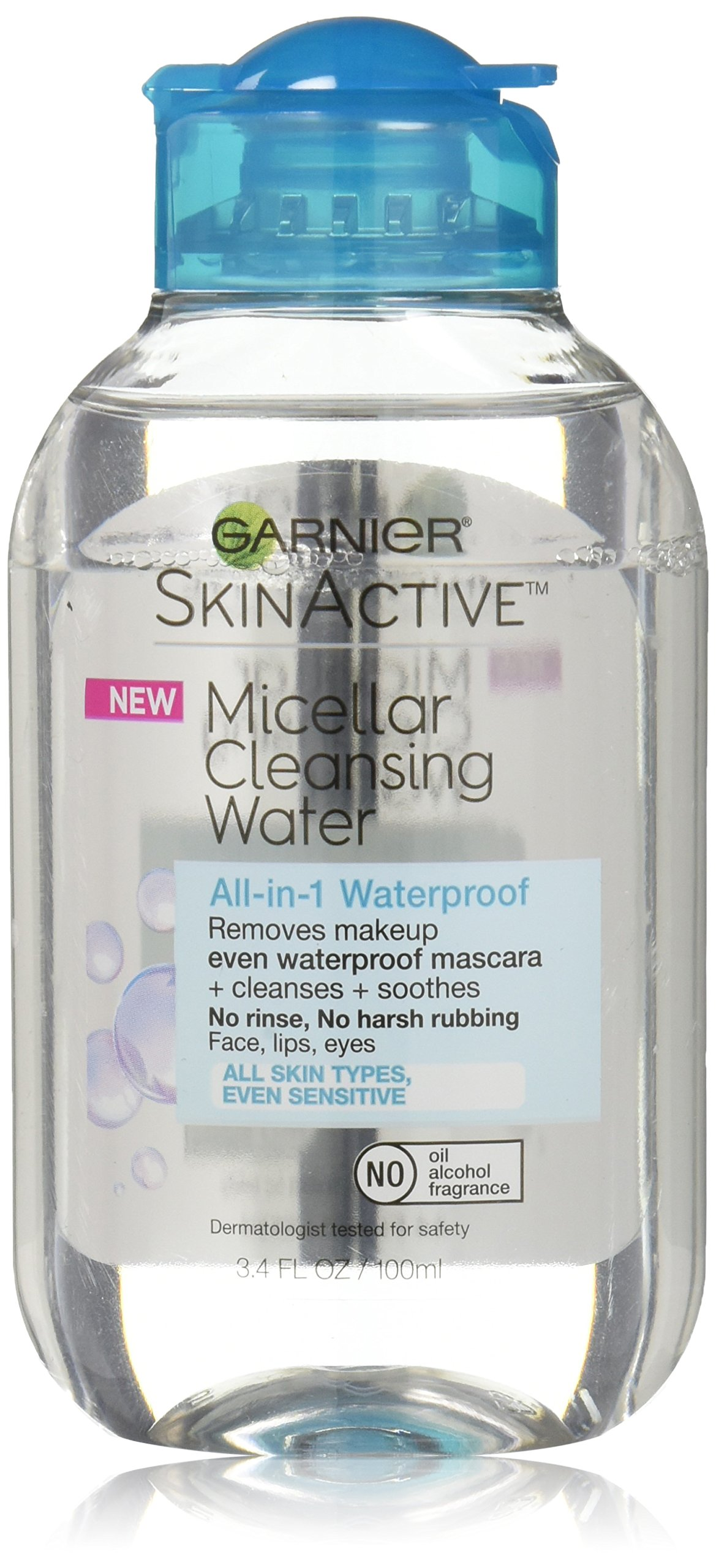 Garnier SkinActive Micellar Cleansing Water, For Waterproof Makeup, 3.4 fl. oz.